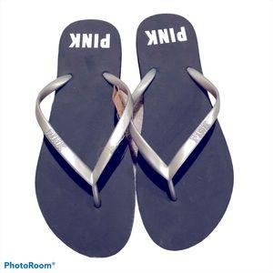 Pink Victoria's Secret thong flip flops NWT
